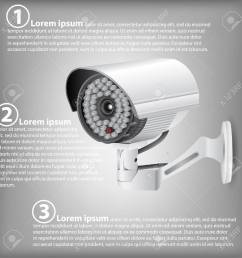 infographic diagram of cctv security camera vector illustration eps 10 for business and technology [ 1300 x 1300 Pixel ]