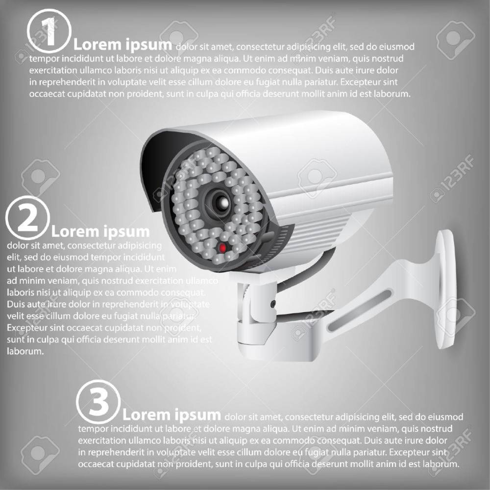 medium resolution of infographic diagram of cctv security camera vector illustration eps 10 for business and technology