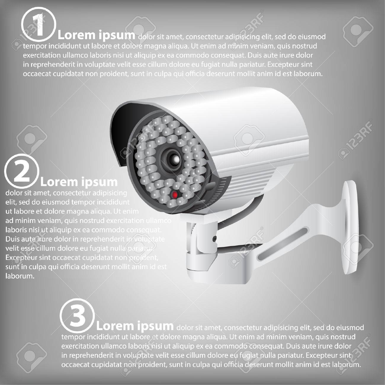 hight resolution of infographic diagram of cctv security camera vector illustration eps 10 for business and technology