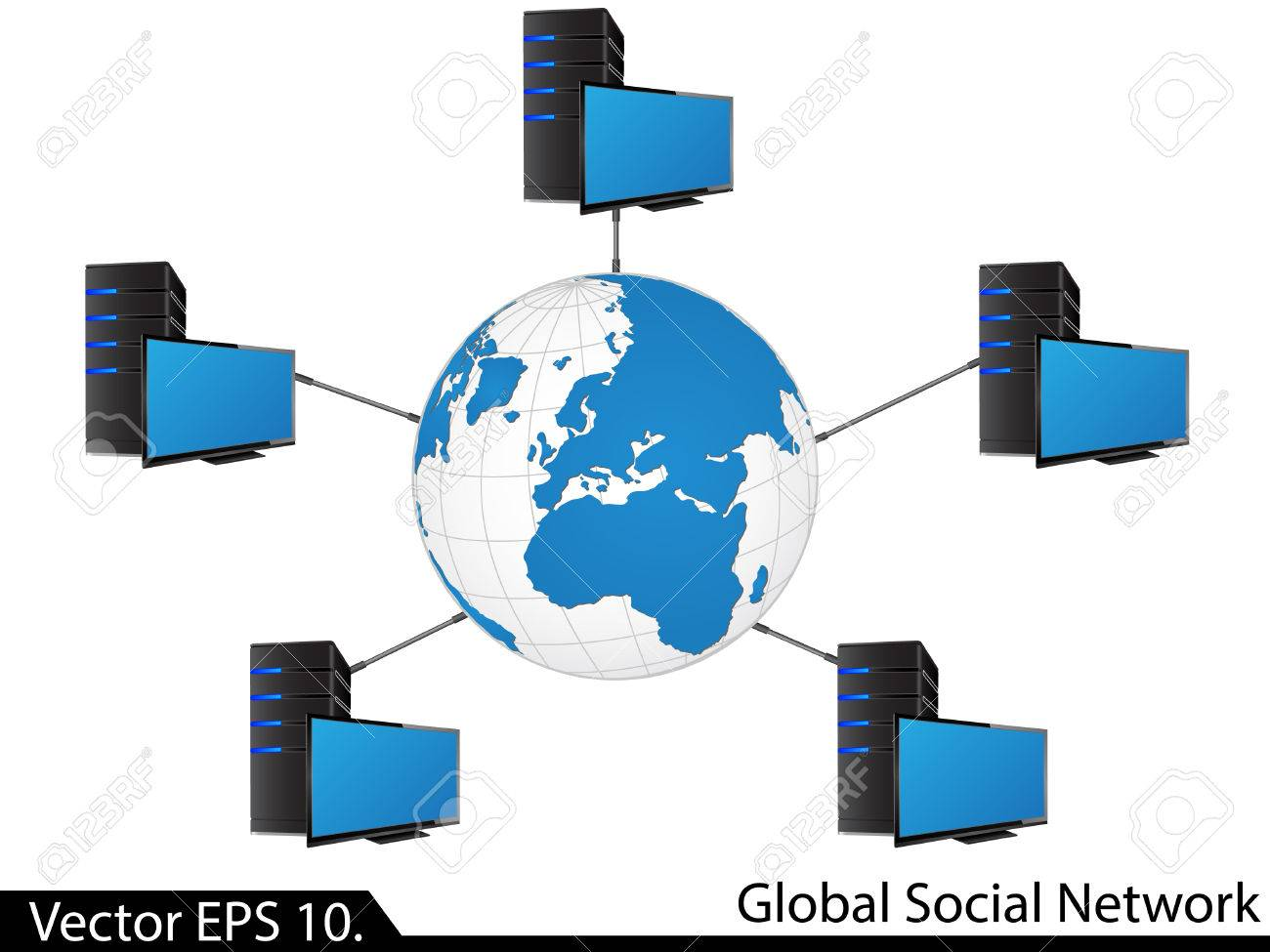 hight resolution of lan network diagram illustrator for business and technology concept stock vector 23981435