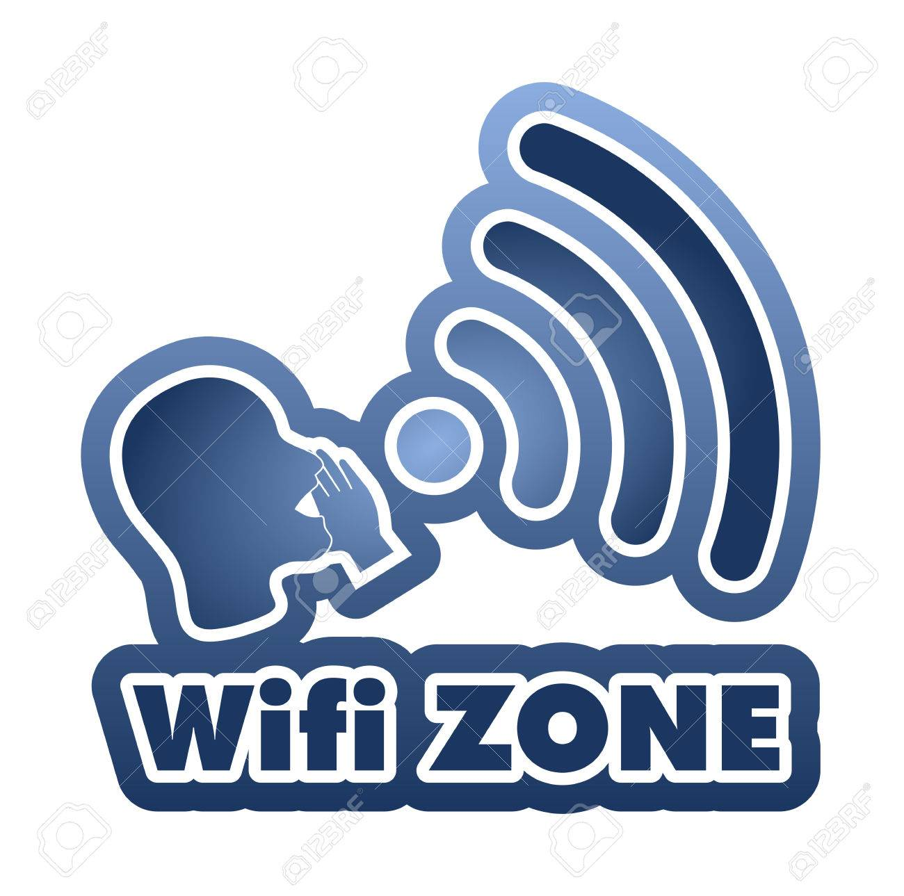 wifi zone vector illustration
