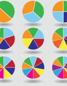 Illustration pie graph circle chart set round raster also rh rf