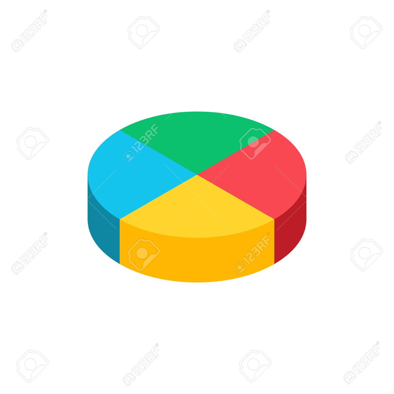 hight resolution of bulk isometric pie graph template realistic three dimensional pie chart business data