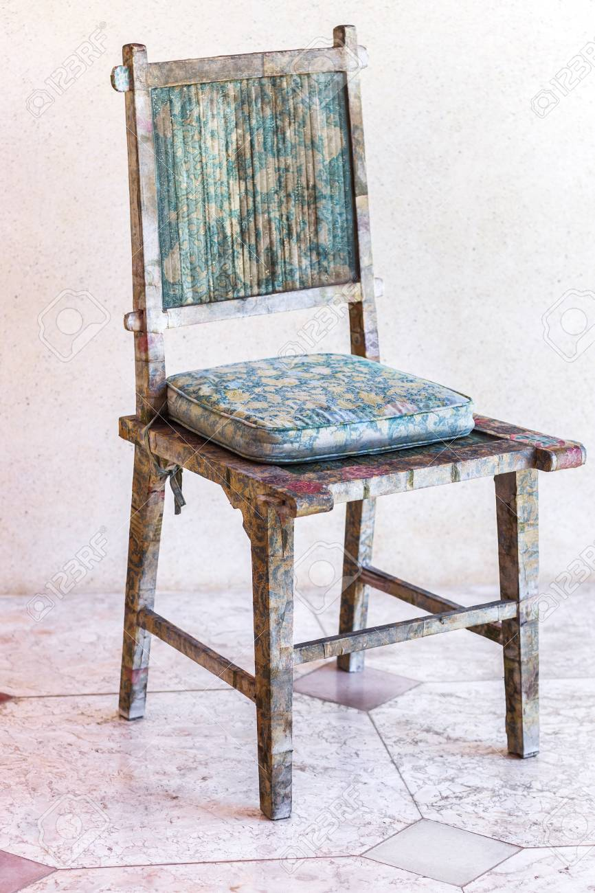 handmade wooden chairs chair covers and sash hire hertfordshire shabby vintage wood carving stock photo 62340892