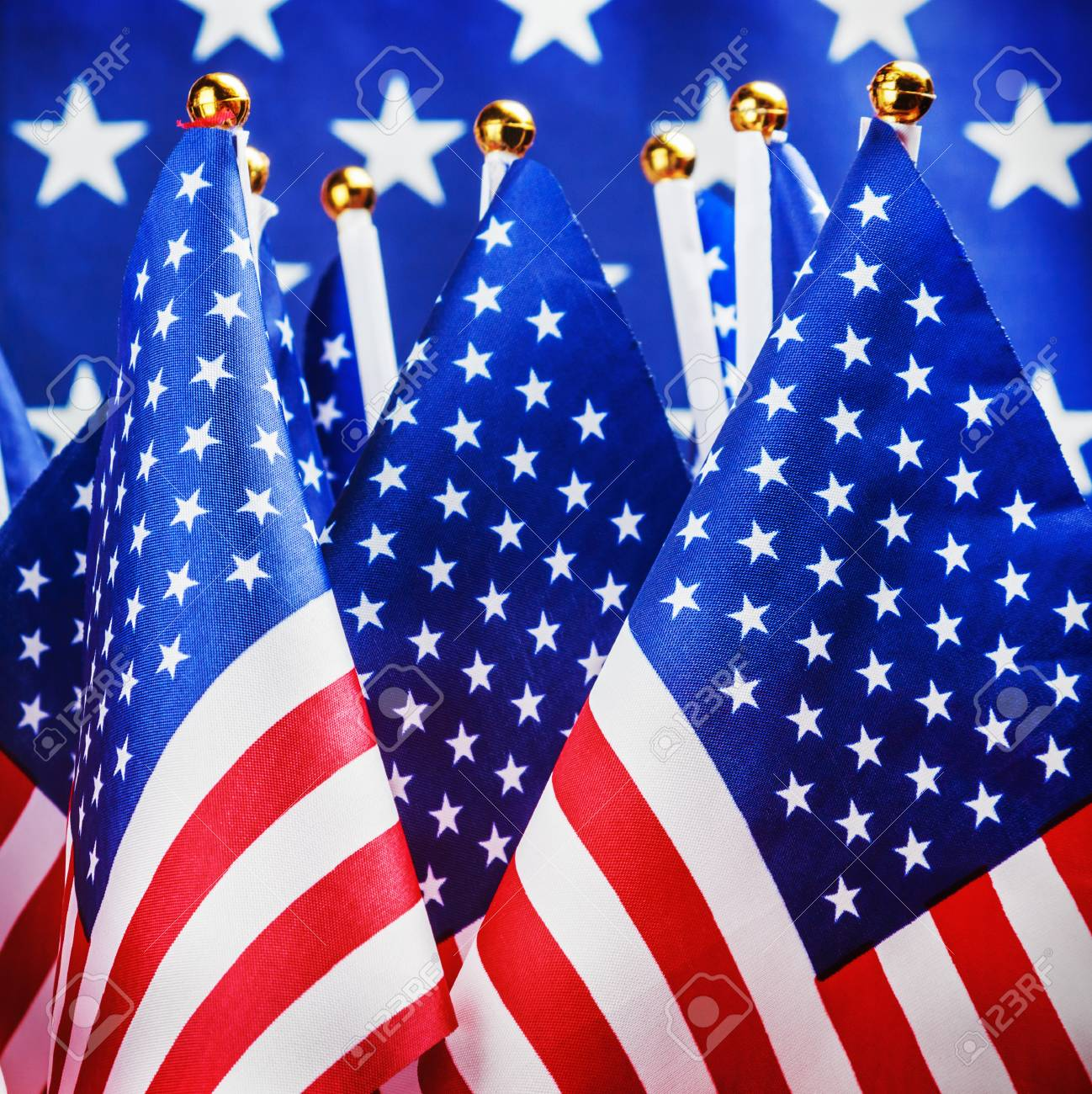 small american flags in