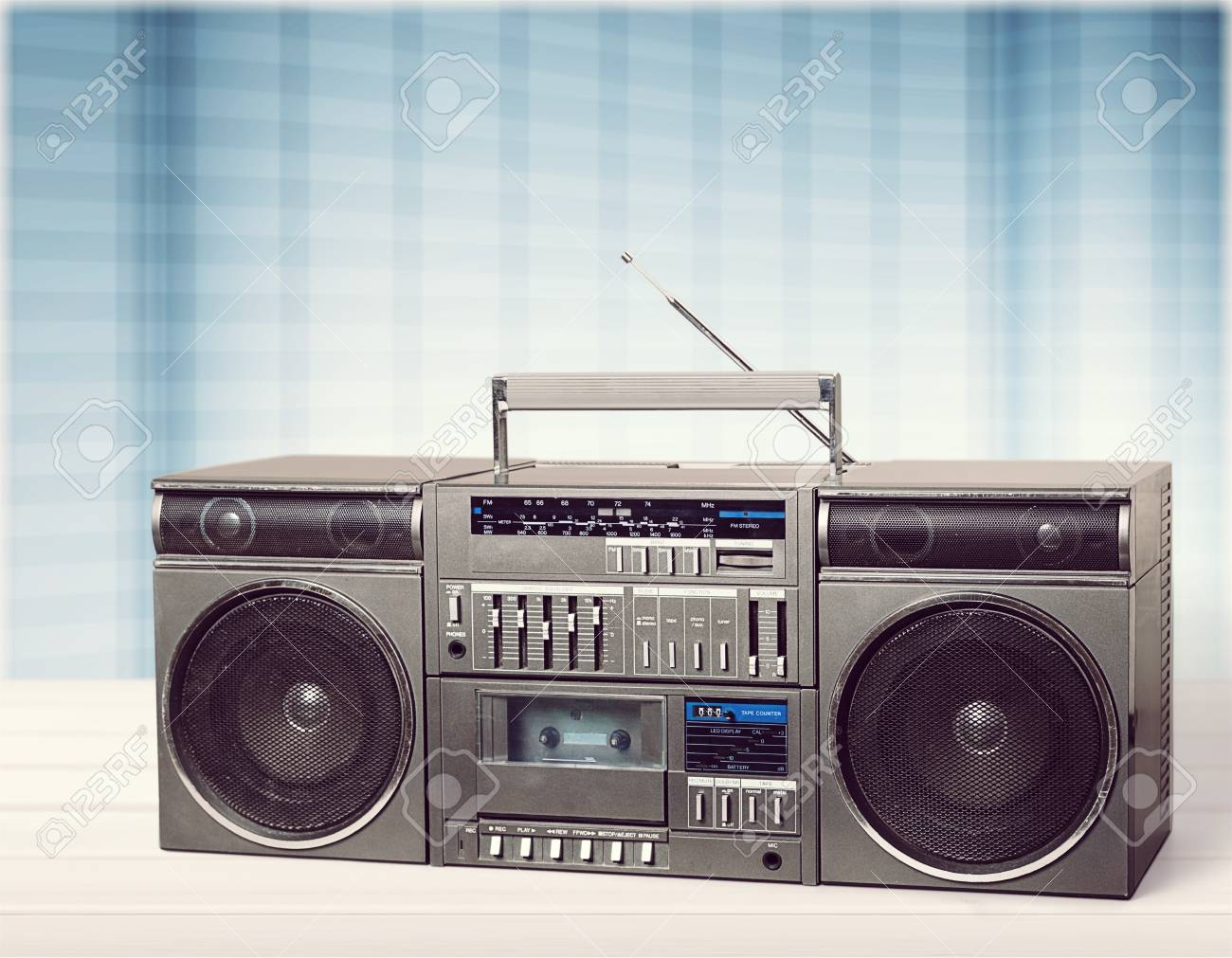 retro outdated portable stereo
