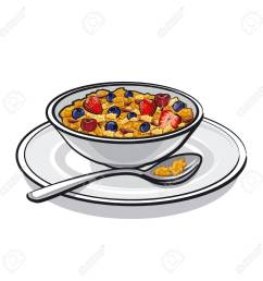 muesli on breakfast stock vector 25929074 [ 1300 x 1300 Pixel ]