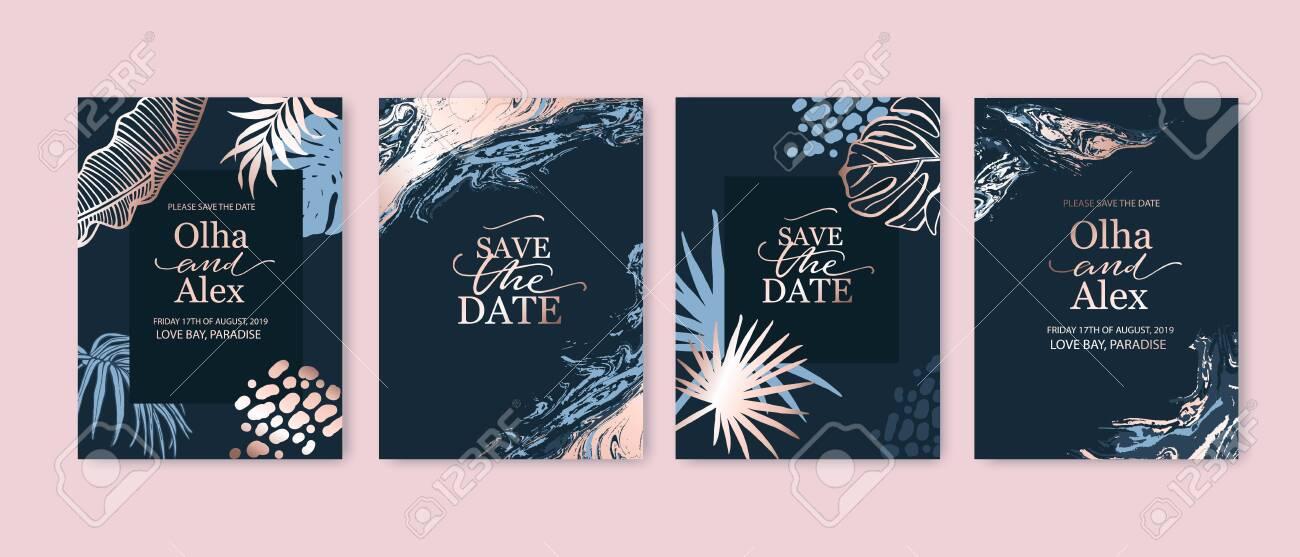 set of elegant fashion brochure birthday card background cover