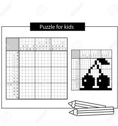 cherry black and white japanese crossword with answer nonogram with answer graphic crossword [ 1300 x 1300 Pixel ]