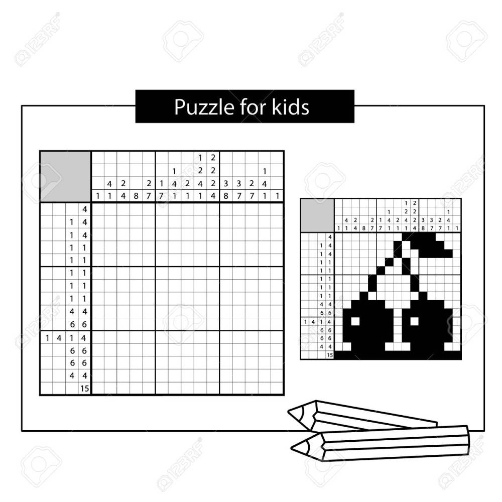medium resolution of cherry black and white japanese crossword with answer nonogram with answer graphic crossword