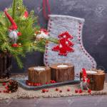 Vintage Christmas Or New Year Composition With Christmas Tree Stock Photo Picture And Royalty Free Image Image 83719872