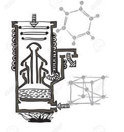 vector vector drawing scheme of mercury vacuum pump [ 1052 x 1300 Pixel ]