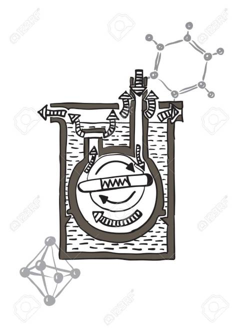 small resolution of vector vector drawing scheme of mercury vacuum pump