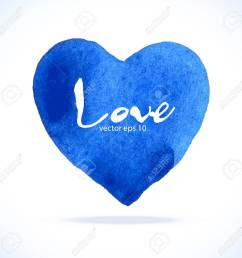 watercolor blue heart stock vector 32854847 [ 1300 x 1282 Pixel ]