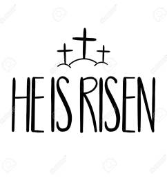 he is risen handwriting lettering design for banner poster photo [ 1300 x 1300 Pixel ]