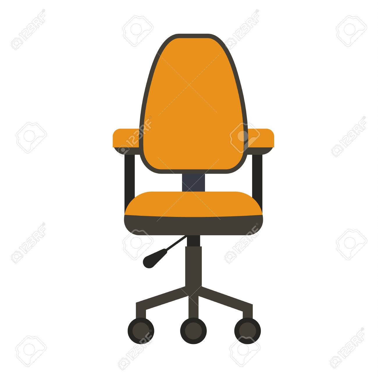 office chair illustration hanging ikea flat icon vector concept of cartoon desk