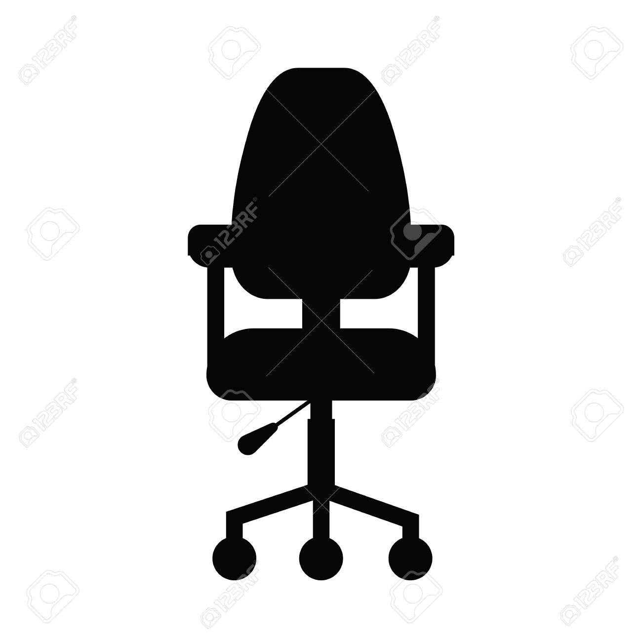 office chair illustration cheap dining chairs set of 6 flat icon vector concept cartoon desk