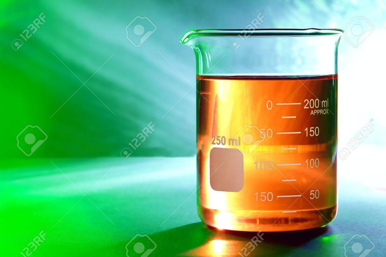 graduated scientific glass beaker