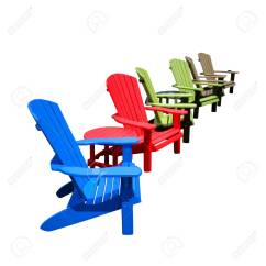 Plastic Resin Chairs Patio Chair Cushion Covers Row Of Colorful Recycled Color Adirondack And Tables Made Hdpe Recycling Lumber