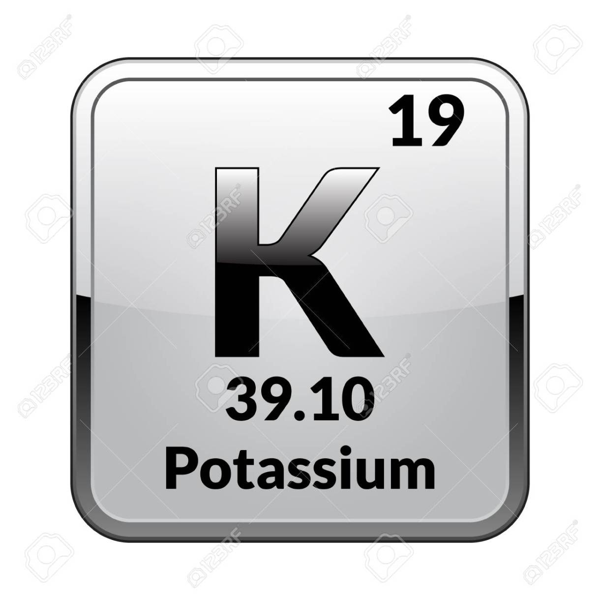 Potassium Symbol.Chemical Element Of The Periodic Table On A.. Royalty Free  Cliparts, Vectors, And Stock Illustration. Image 103983370.