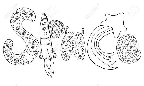 space coloring page # 84