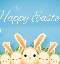 easter bunny rabbit hole egg icon sky background template flat moble design vector illustration stock vector [ 1300 x 866 Pixel ]