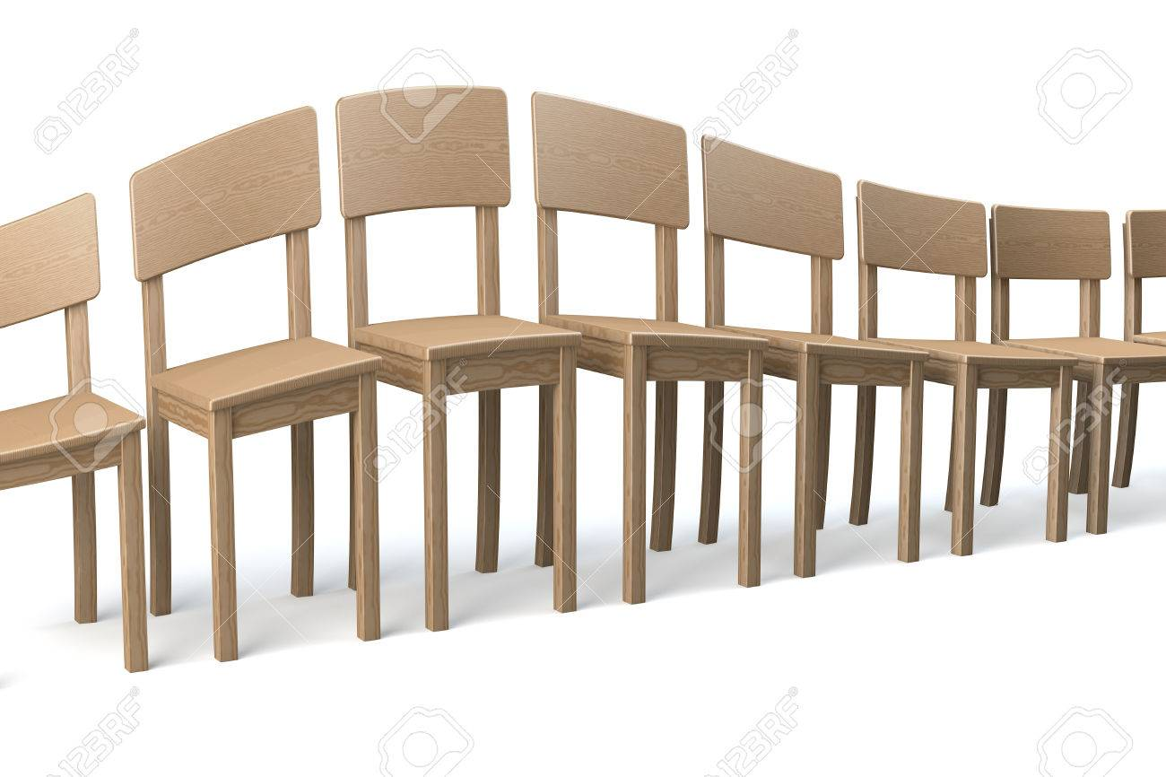 unusual wooden chair cheap dining room table and sets distorted row of chairs on white background wave distortion in a surrealistic fashion