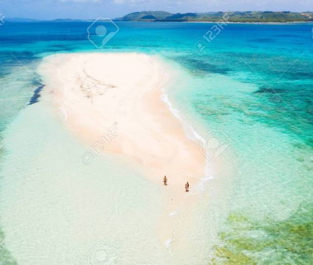 Naked Island Siargao Philippines Tropical Beach With Blue