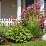 Mixed Flower Bed In Front Of A Picket Fence Stock Photo Picture And Royalty Free Image Image 3329938