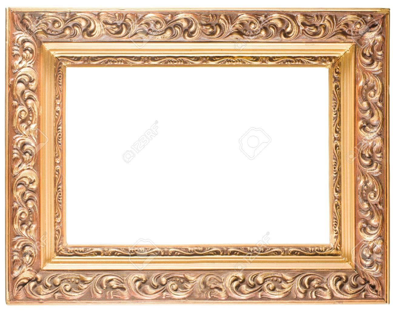 golden cadre ancien isole sur fond blanc
