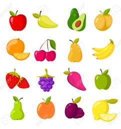 cartoon fruits vector clipart collection isolated stock vector 75340675 [ 1299 x 1300 Pixel ]