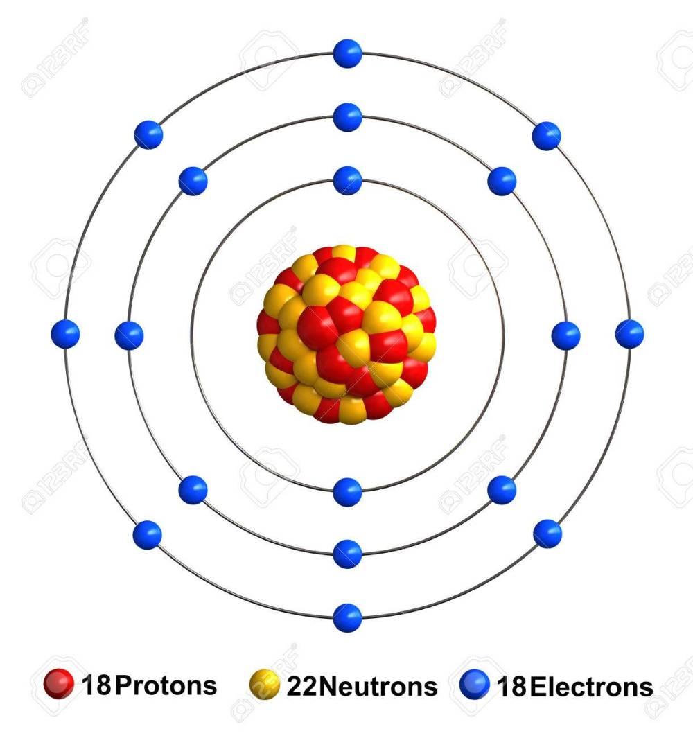 medium resolution of 3d render of atom structure of argon isolated over white background helium atom diagram argon atom diagram