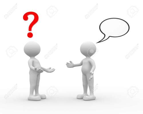small resolution of 3d people man person talking arguing question mark and blank bubble stock