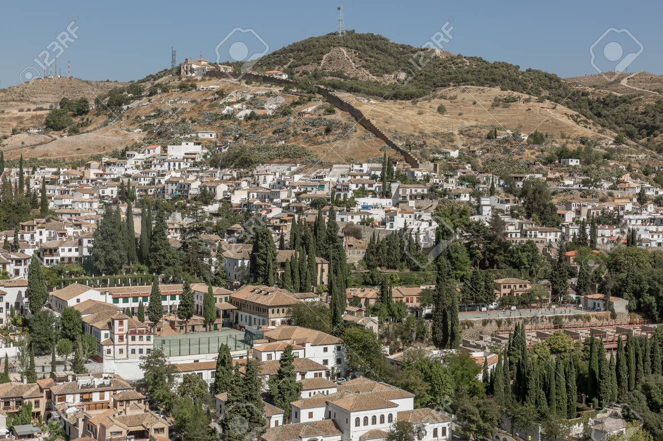 A View Of Albaicin And Sacromonte Districts In Granada Spain