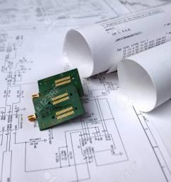 printed circuit board circuit diagram software technology stock photo 75710908 [ 1300 x 866 Pixel ]