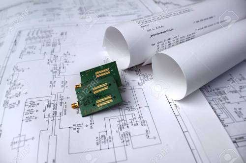 small resolution of printed circuit board circuit diagram software technology stock photo 75710908
