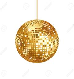 sparkling gold disco ball isolated stock vector 84560947 [ 1300 x 1300 Pixel ]