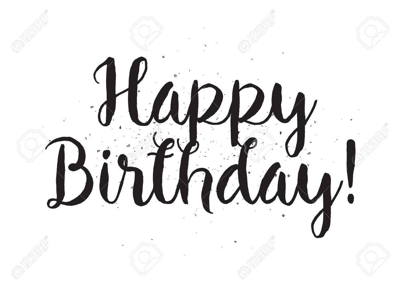 Happy Birthday Schriftzug Kalligraphie