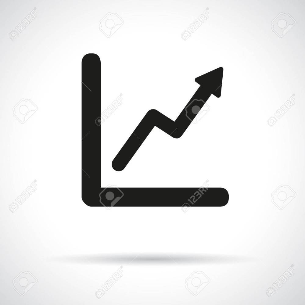 medium resolution of graph diagram black flat icon with shadow growth and success concept stock