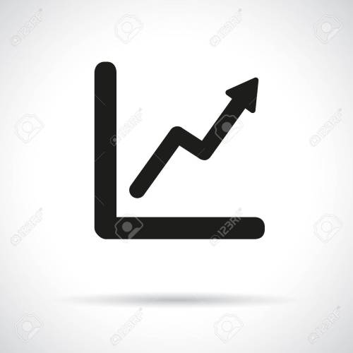 small resolution of graph diagram black flat icon with shadow growth and success concept stock