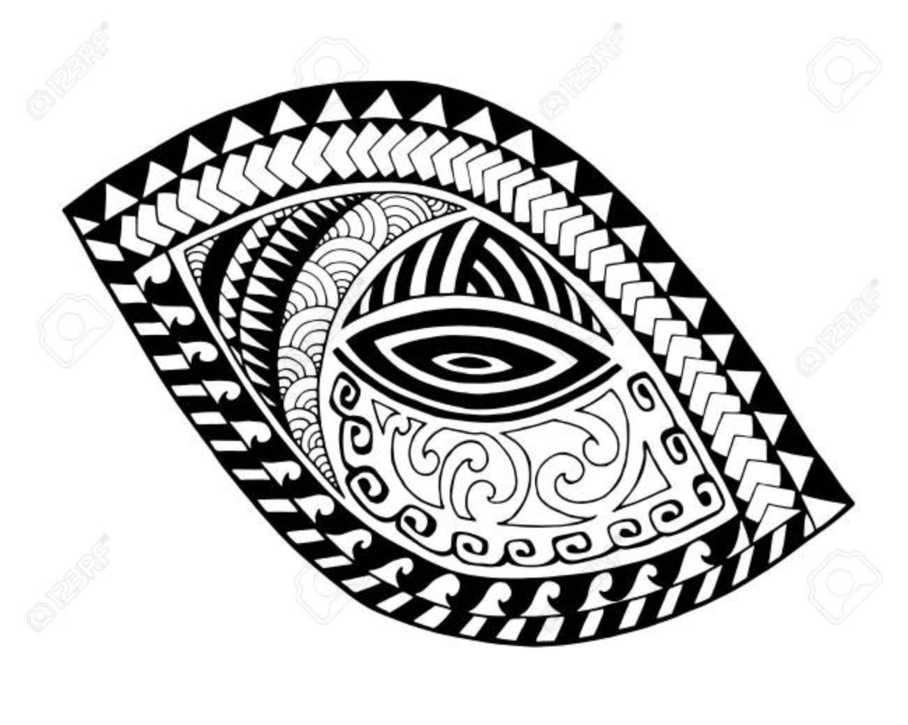 Diseño De La Moda Del Tatuaje Maorí Ilustraciones Vectoriales Clip