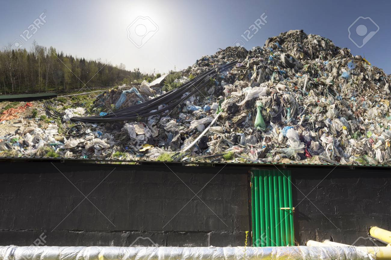 huge landfill site a
