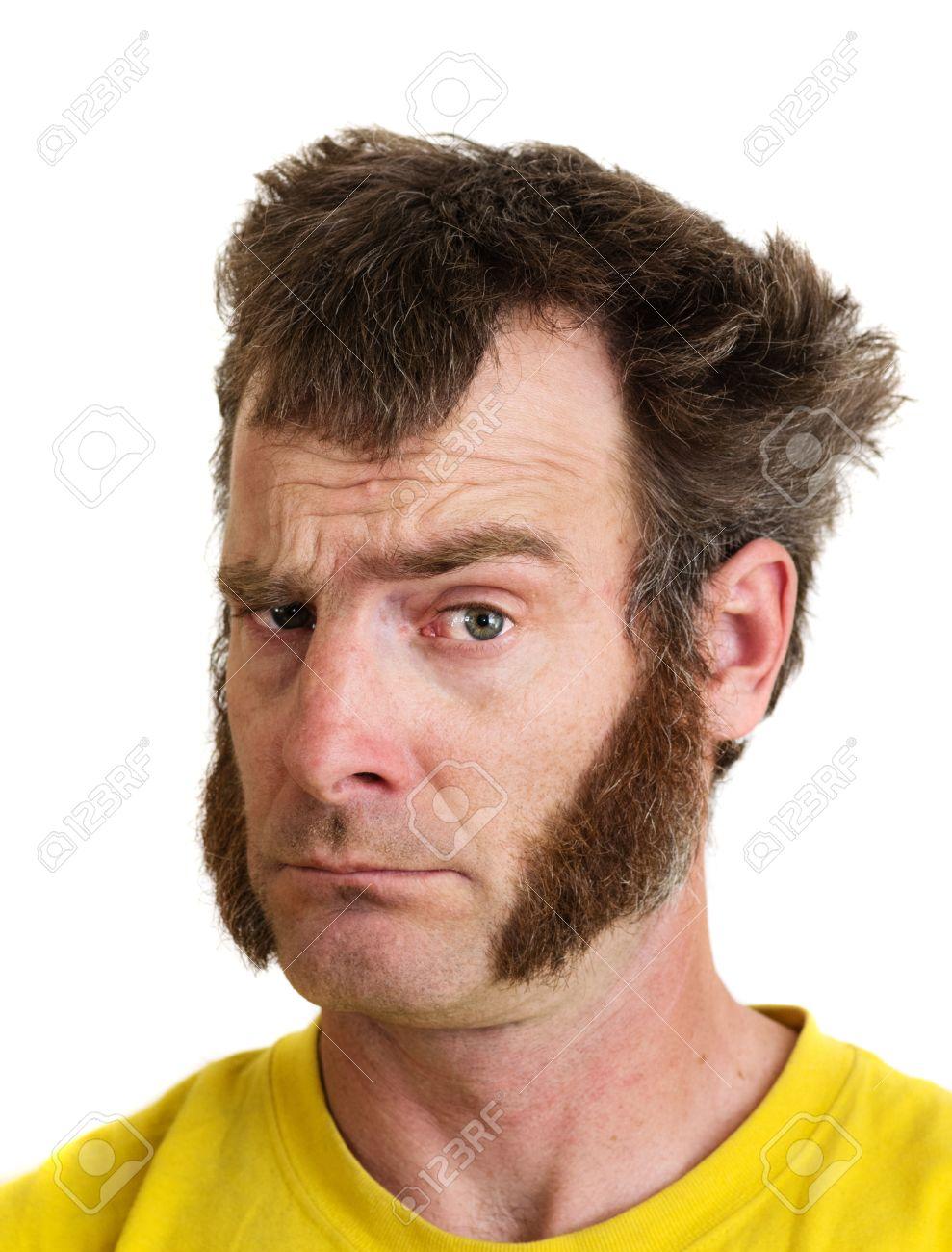 Raise One Eyebrow : raise, eyebrow, Large, Sideburns, Looks, Camera, Eyebrow.., Stock, Photo,, Picture, Royalty, Image., Image, 21621764.