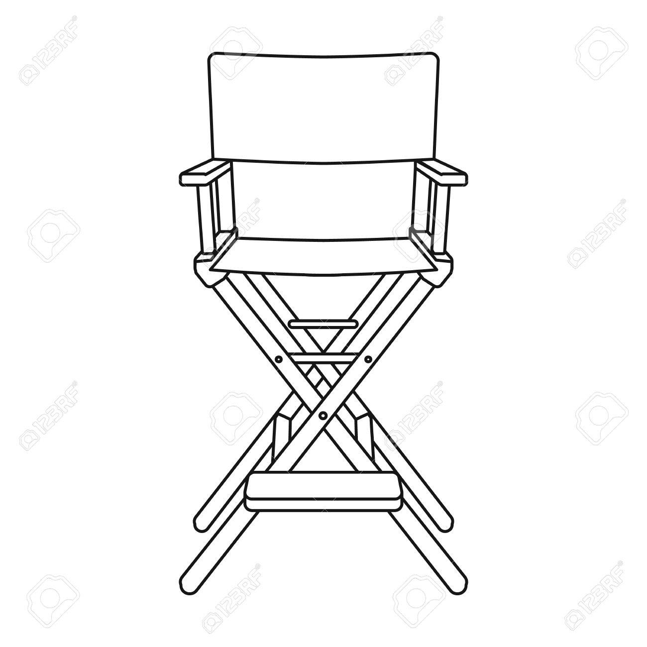 directors chair white beach chairs on clearance director s icon in outline style isolated background films and cinema symbol vector