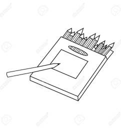 colored pencils for drawing in box icon in outline style isolated on white background artist [ 1300 x 1300 Pixel ]