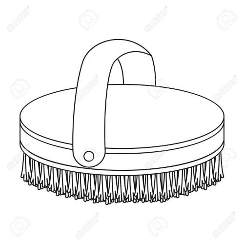 small resolution of horse body brush icon in outline style isolated on white background hippodrome and horse symbol