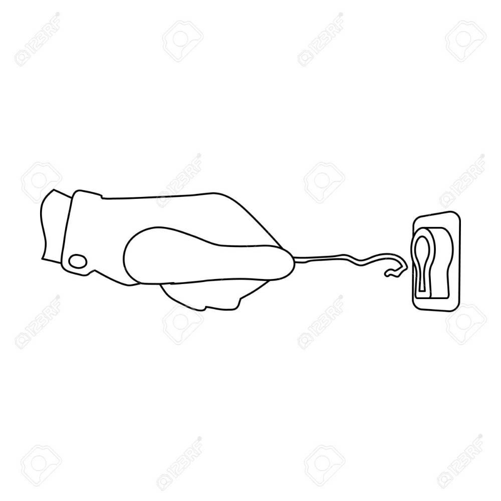 medium resolution of lockpick in the hand of the criminal latchkey thief tool crime single icon