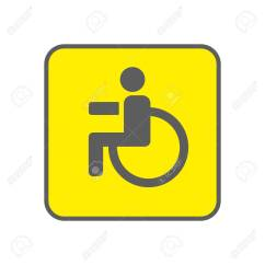 Yellow Wheelchair Chair Covers And Sashes For Hire Adelaide Disabled Person Vector Icon Man On The Background Handicapped Sign