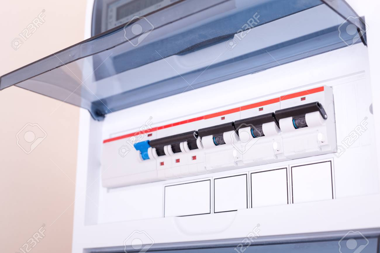 hight resolution of rcd circuit breaker board fusebox at the apartment nobody stock photo 108443938