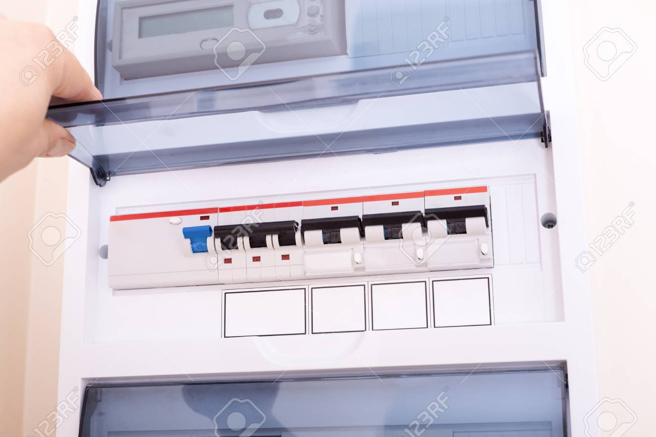 hight resolution of rcd circuit breaker board fusebox at the apartment stock photo 108444213
